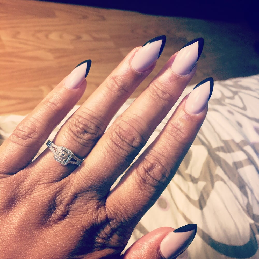 Beautiful full set/solar stiletto nails w gel. I LOVE THEM! - Yelp