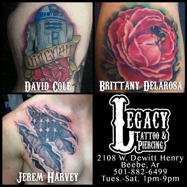 Legacy Tattoos & Piercing: 1902 W Dewitt Henry Dr, Beebe, AR