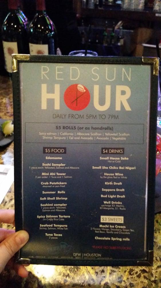 Happy hour menu yelp for Blue fish dallas