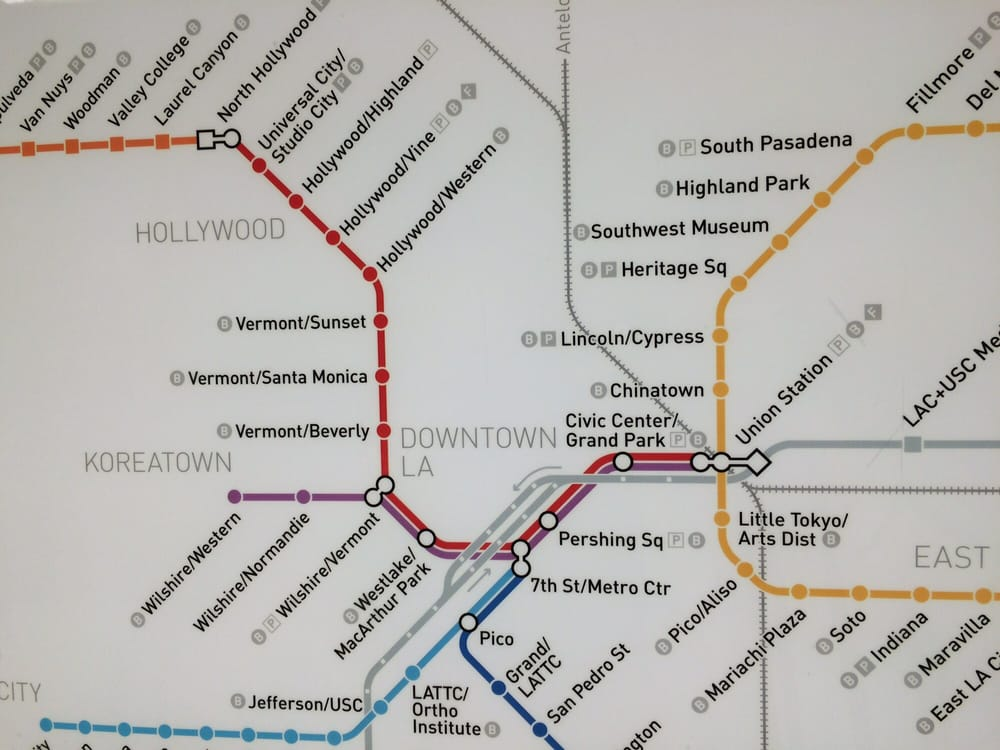 Red Line Los Angeles Subway Map.Redline Map Yelp