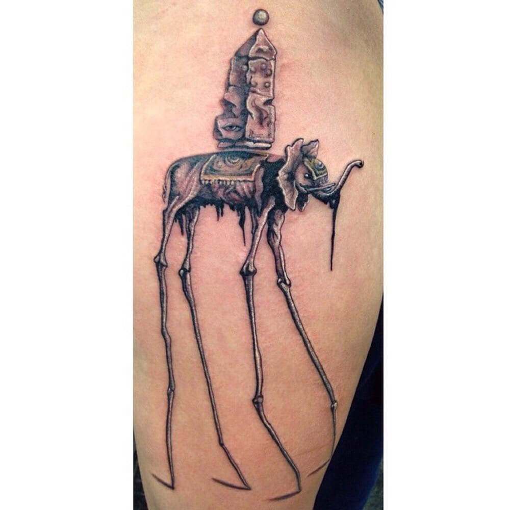 Salvador Dali Tattoo Dali Tattoo: Salvador Dali Tattoo By Jessica Gahring