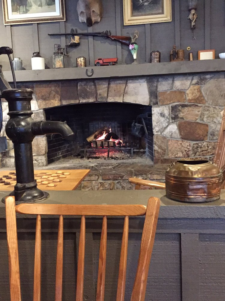 Real natural wood fire burning in fireplace! Awesome! Shotgun and ...