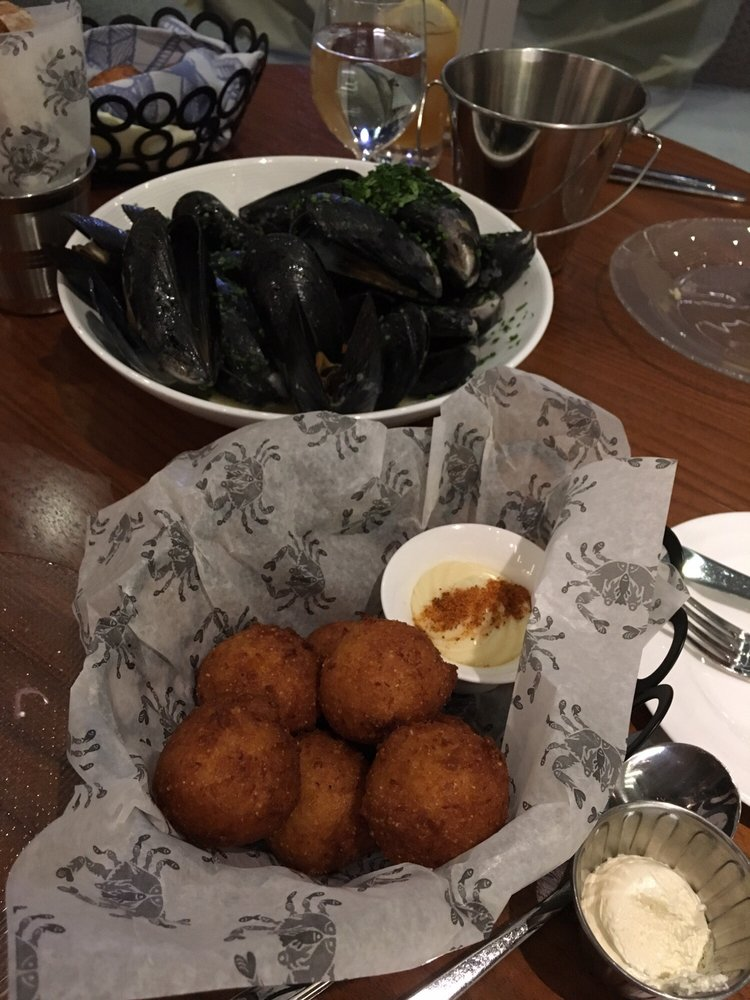 Hush puppies and mussels yelp for Fish by jose andres