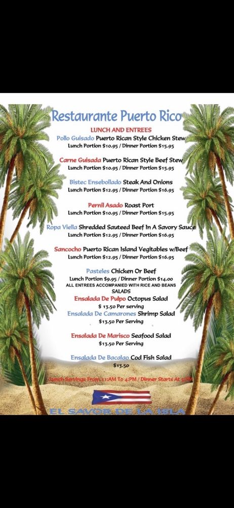 Restaurante Puerto Rico: 650 Newman Spring Rd, Lincroft, NJ