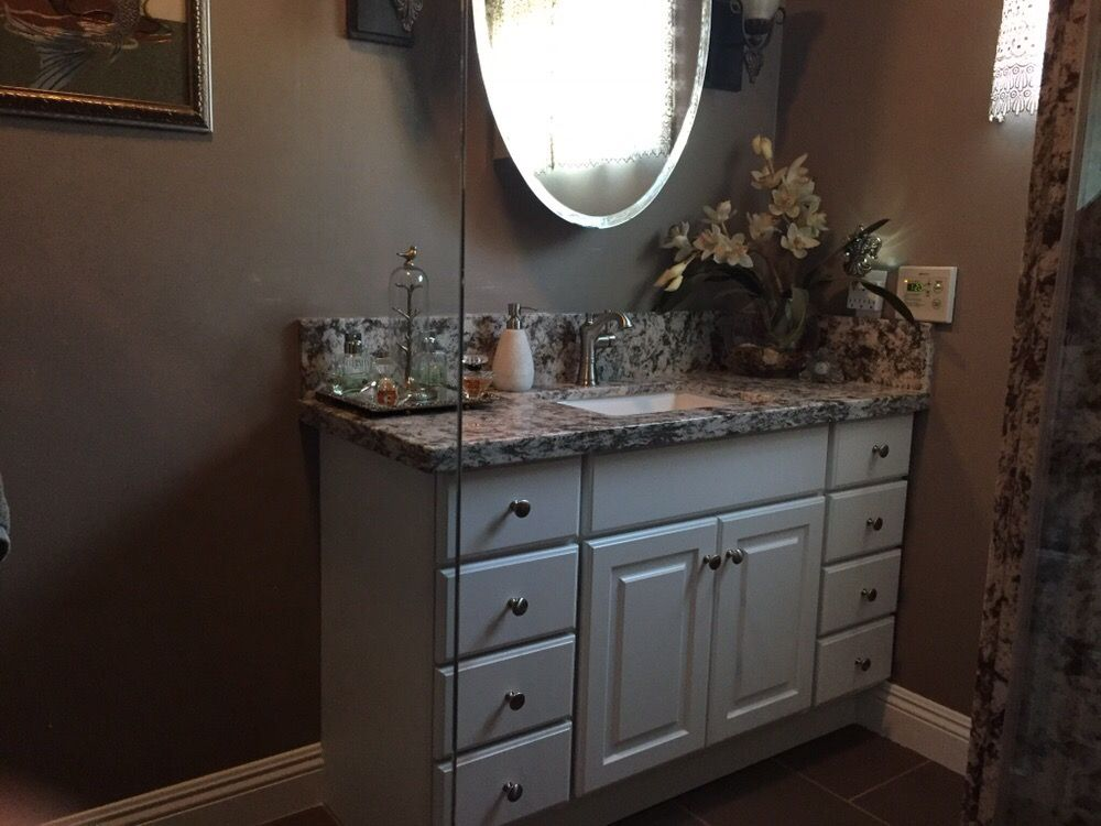 Bathroom Remodel With Quartz Countertop And Extended Backsplash Yelp - Bathroom remodel anaheim ca