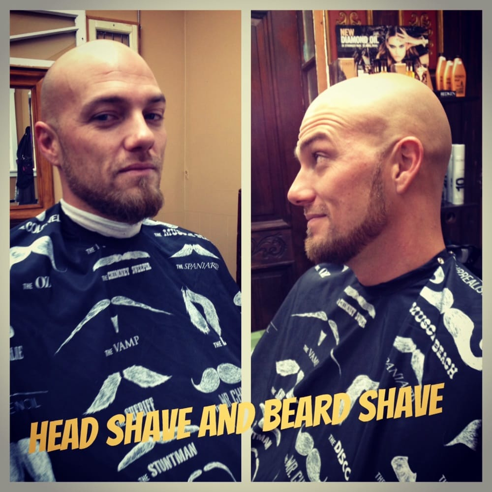 Mens Deluxe Package Includes Head Shave Haircut Hot Towel Scalp