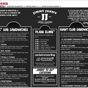 photo about Jimmy Johns Printable Menu identify Jimmy Johns - 12 Testimonials - Delis - 143 N Harrison, East