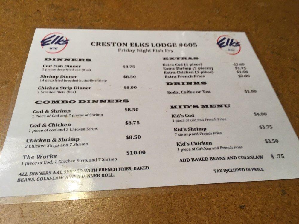Elks Lodge & Club Rooms: 403 W Montgomery St, Creston, IA