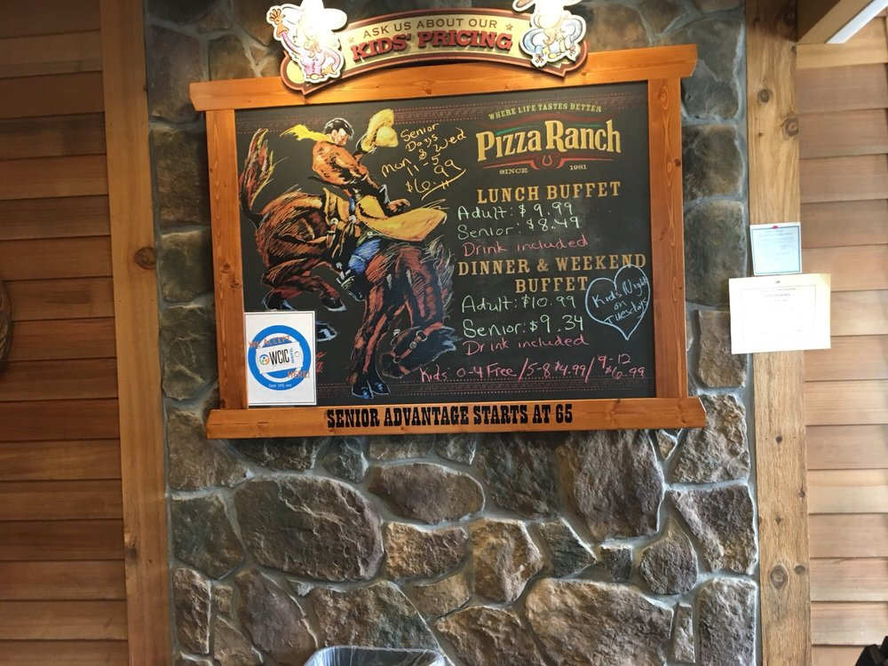 Pizza Ranch also offers a salad bar, as well as 'Crispy Ranch Chicken' (the company's own recipe for roasted chicken), several wraps, roasted potatoes, chicken fingers, waffle fries, ranch chips, mashed potatoes and gravy (in some locations)/5().