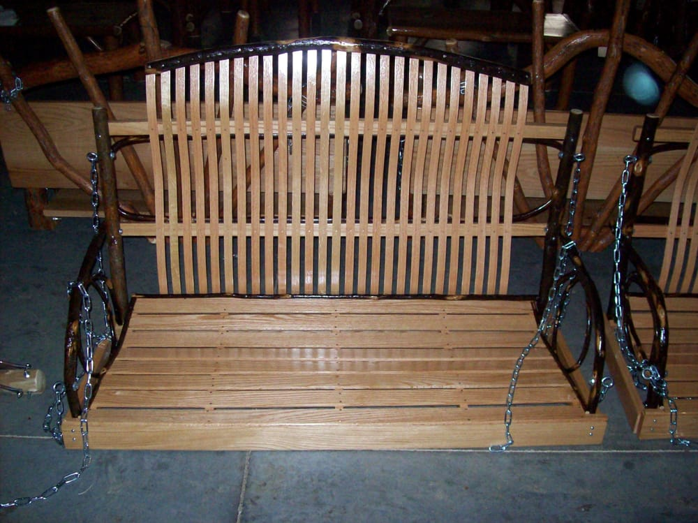 Amish Handmade 4 Ft Hickory And Oak Porch Swing Yelp