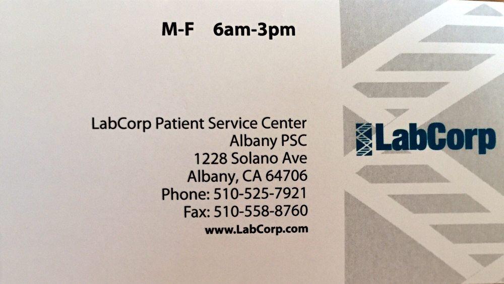 LabCorp: 1233 Solano Ave, Albany, CA