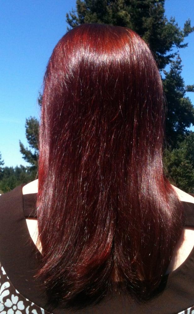 Red Raj In Sunlight On Dark Blonde Light Brown Hair Love This