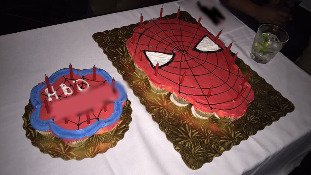 Specially ordered cupcake pullapart cake asked for SpiderMan