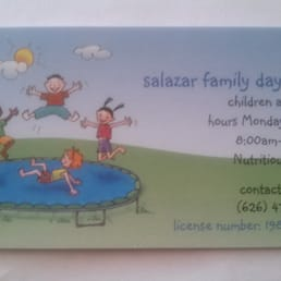 photo of salazar family daycare azusa ca united states my business card