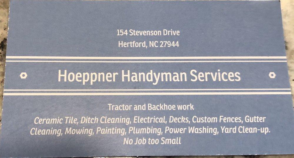 Hoeppner Handyman Services: 154 Stevenson Dr, Hertford, NC