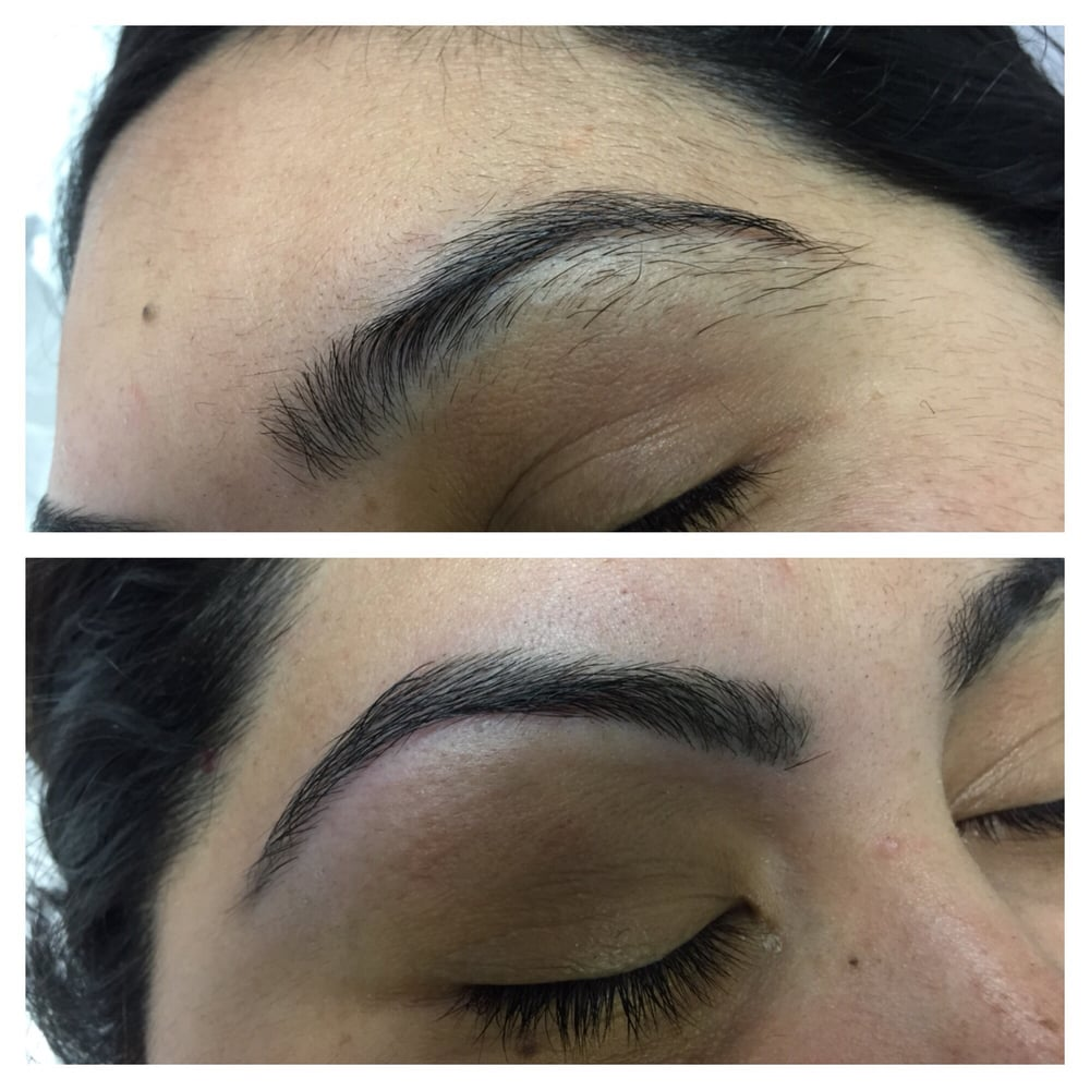 Before And After I Get My Brows Threaded By Farida At Cutting Edge