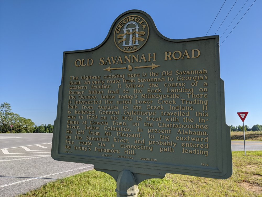 Old Savannah Road Historical Marker: 1886 US-25, Millen, GA