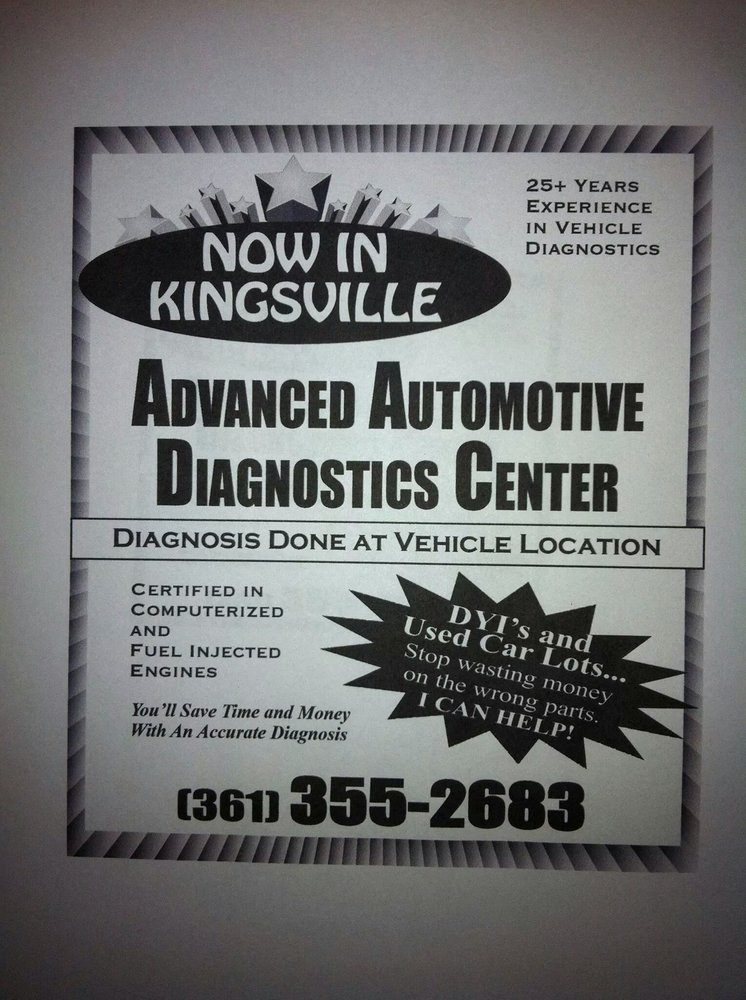 Advanced Automotive Diagnostics: 900 S 6th St, Kingsville, TX