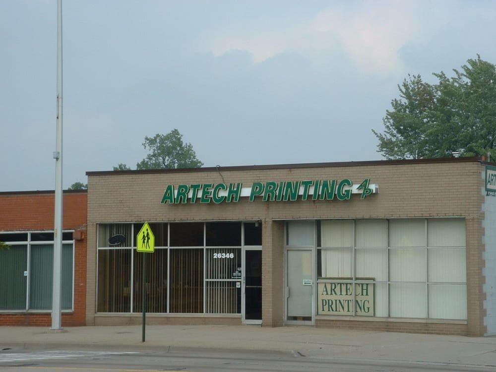 Artech Printing: 26346 John R Rd, Madison Heights, MI