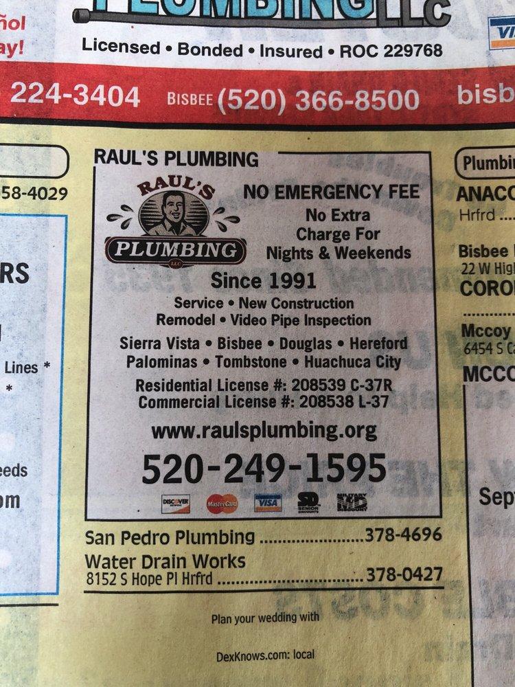 Raul's Plumbing: 613 Campbell St, Bisbee, AZ