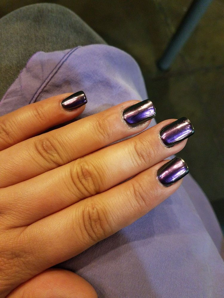 Newer metallic iridescent coating with gel color. (Excuse my dry ...