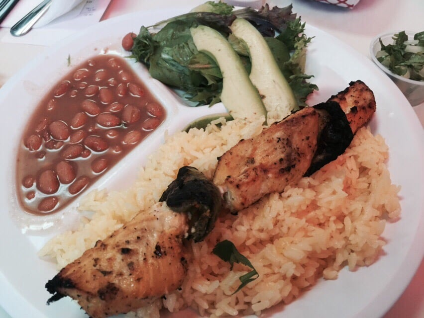 Fish brochette plate yelp for Fish plates near me