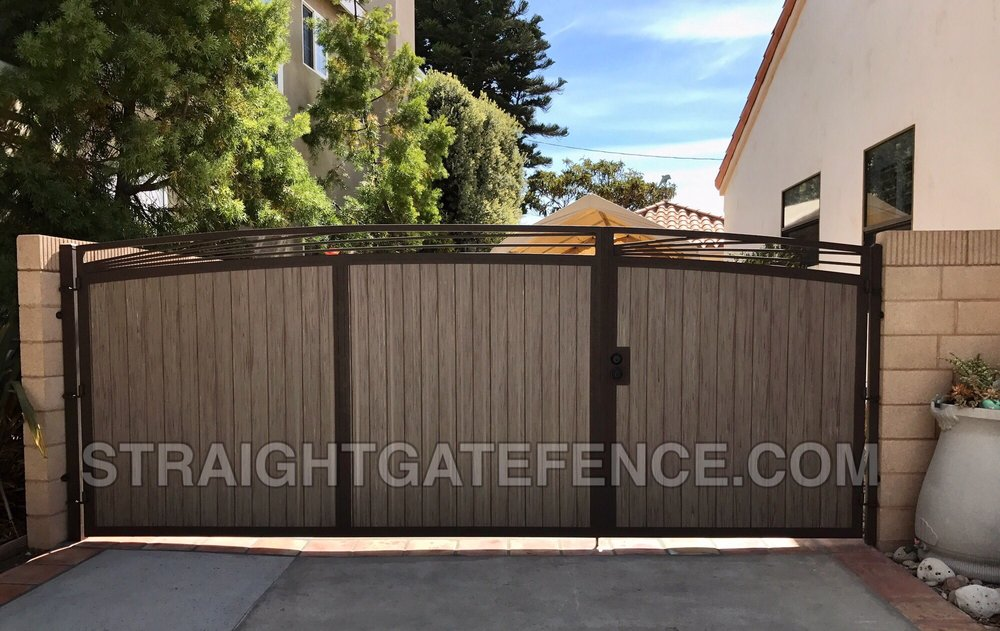 If It S Not A Straight Gate Fence Co Steel Framed Gate