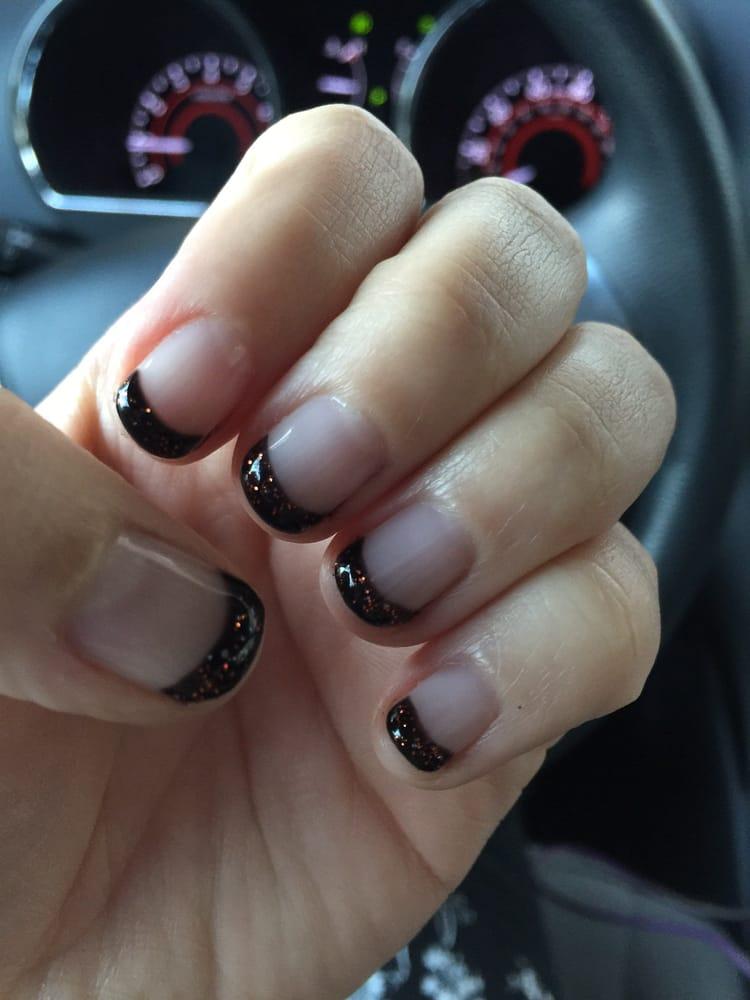 My Halloween gel manicure. - Yelp