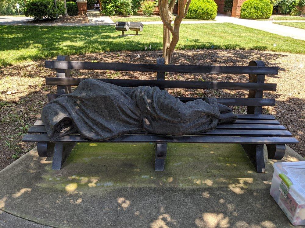 Homeless Jesus: 301 Caldwell Ln, Davidson, NC