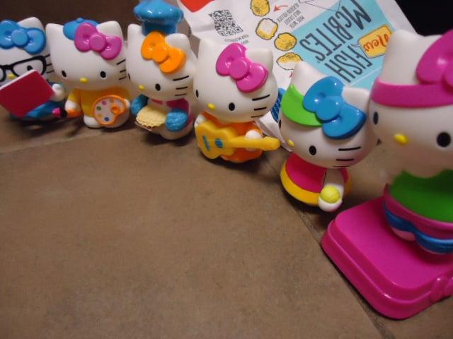 Hello Kitty Mcdonald S Toys : Mcdonald s hello kitty th anniversary happy meal toys set of