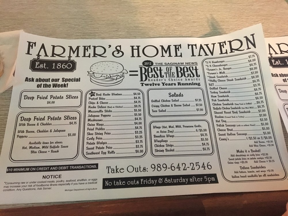 Farmers Home Tavern: 215 W Saginaw St, Hemlock, MI