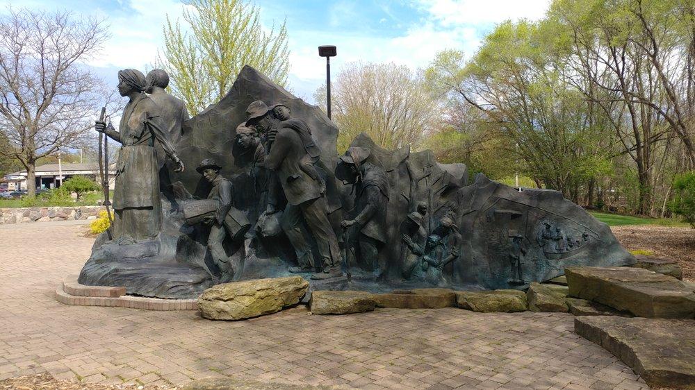 Underground Railroad Sculpture: 256 W Van Buren St, Battle Creek, MI