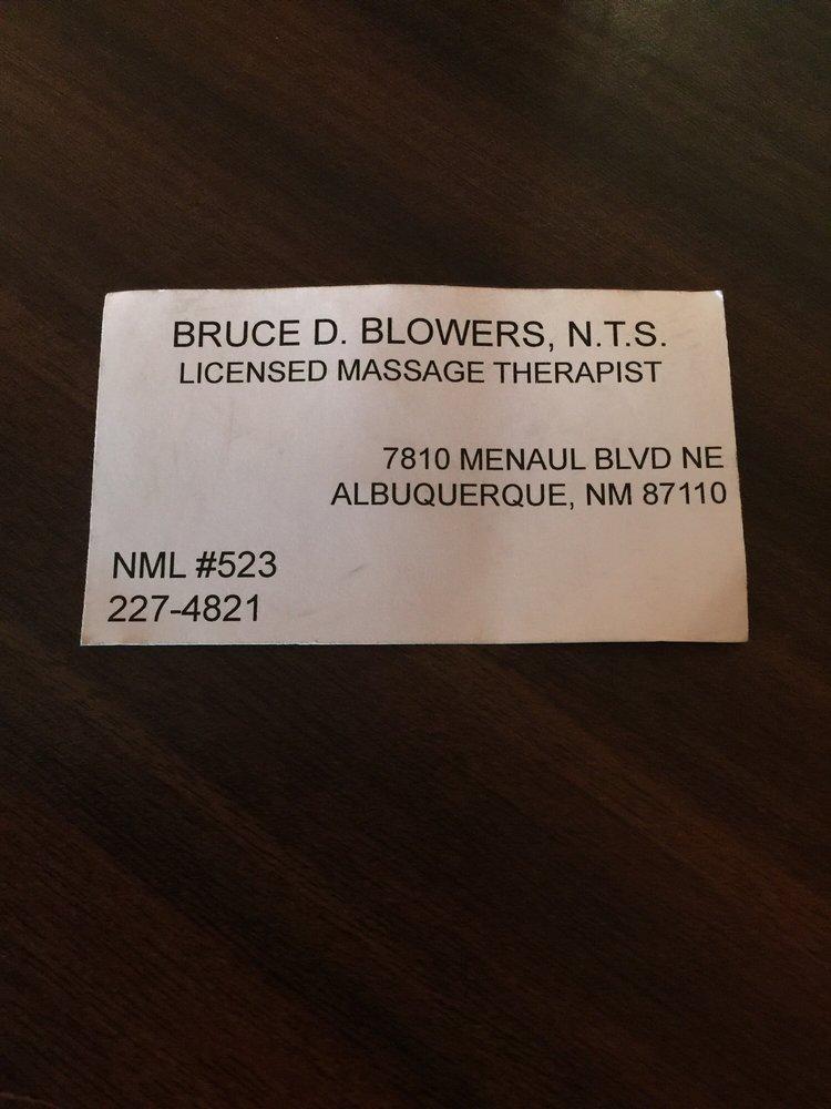 Bruce Blowers Licensed Massage Therapist
