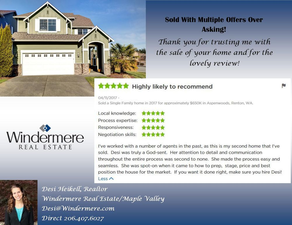 Desi Heikell - Windermere Real Estate: 22017 SE Wax Rd, Maple Valley, WA
