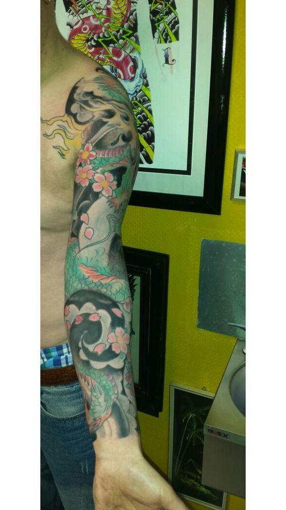 Irezumi Japanisches Ganz Arm Tattoo Erstes Nachstechen Tattoo
