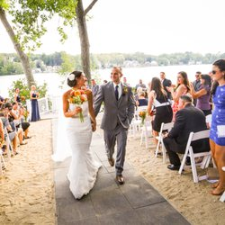 Photo Of Lake Pearl Wham Ma United States Private Beach Ceremonies