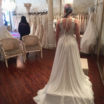 6bbf61c16fc0a Photo of Panache Bridal - Pasadena - Pasadena, CA, United States. Trying on