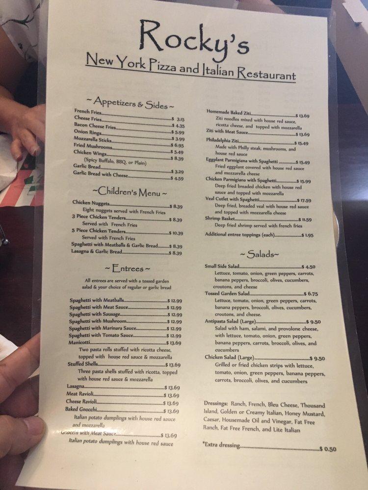 Rocky's New York Pizza And Italian Restaurant: 22032 Jefferson Blvd, Smithsburg, MD