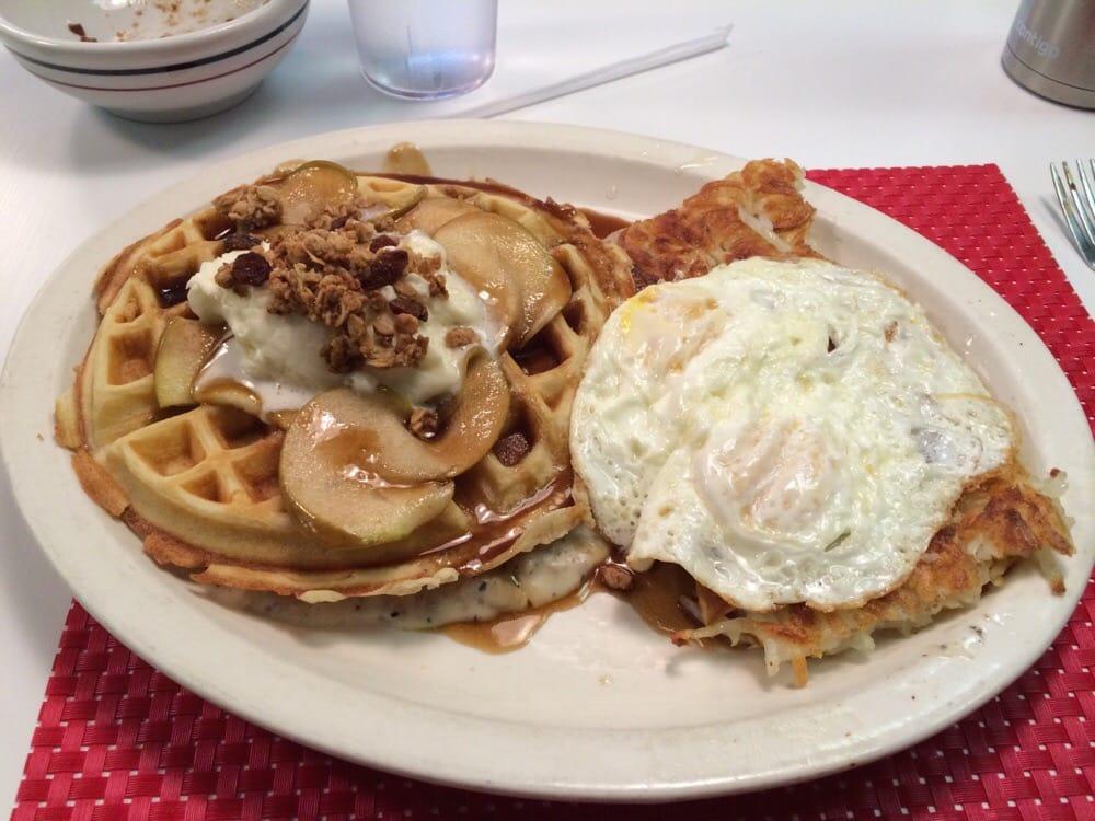 ... - Wichita, KS, United States. Caramel apple pork chop stuffed waffle