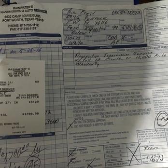 Auto Transmission Repair >> Rainwater S Transmission Repair Auto Repair 6832 Camp Bowie Blvd
