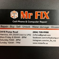 Mr fix cell phone computer repair 10 photos mobile phone photo of mr fix cell phone computer repair henrico va united states mr fix short pump business card colourmoves