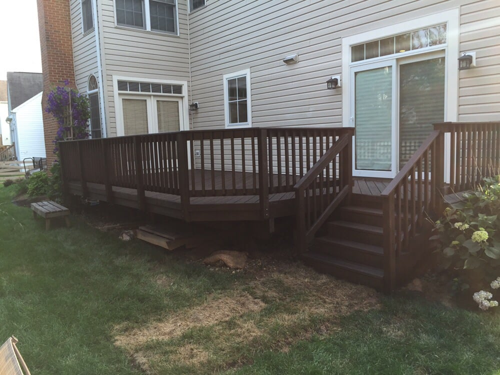 Semi Transparent Stained Deck Padre Brown Color Of Behr