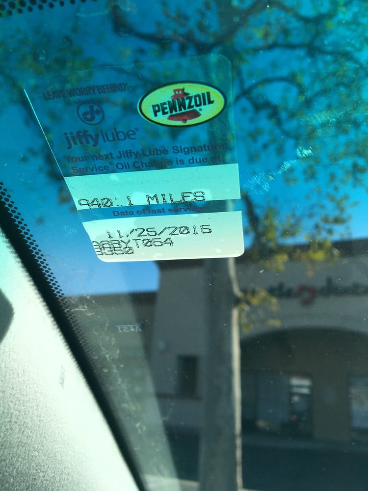Photo of Jiffy Lube - Norco, CA, United States. The sticker to notify