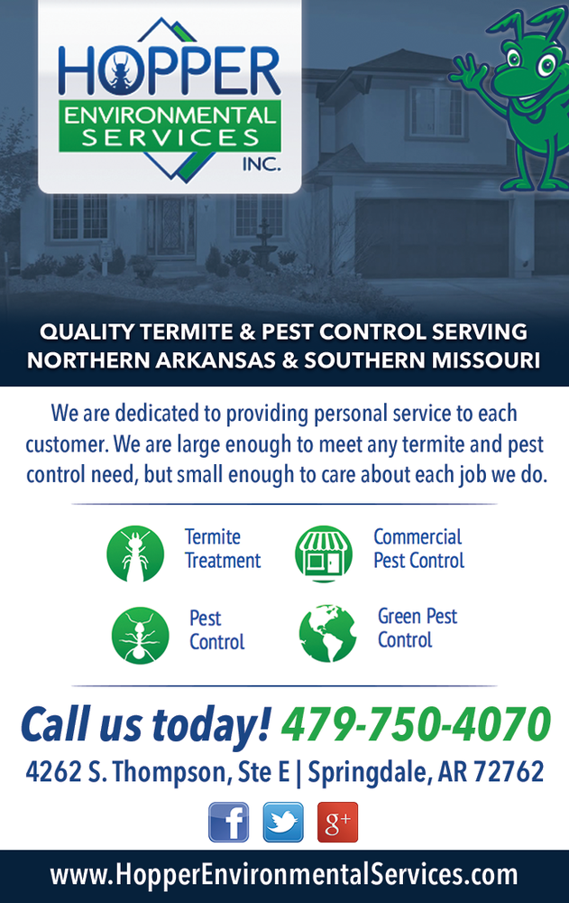 Hopper Termite & Pest: 4262 S Thompson St, Springdale, AR