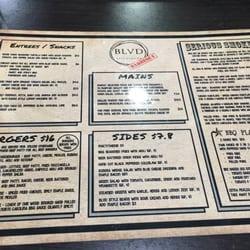 Blvd Restaurant Springfield Menu