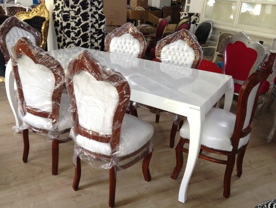 Casa Padrino Hochglanz Barock Stil Tisch Weiss Modern Yelp