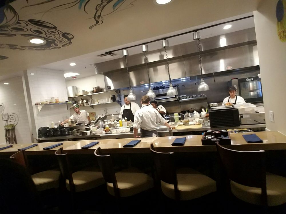 View of the kitchen and chefs table yelp for Jardin west palm