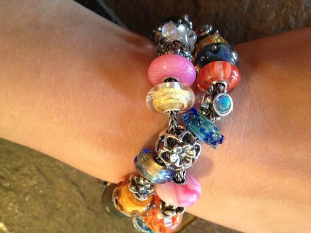 82c53722bfba A fun Trollbeads bracelet design, linking two bracelets with the ...