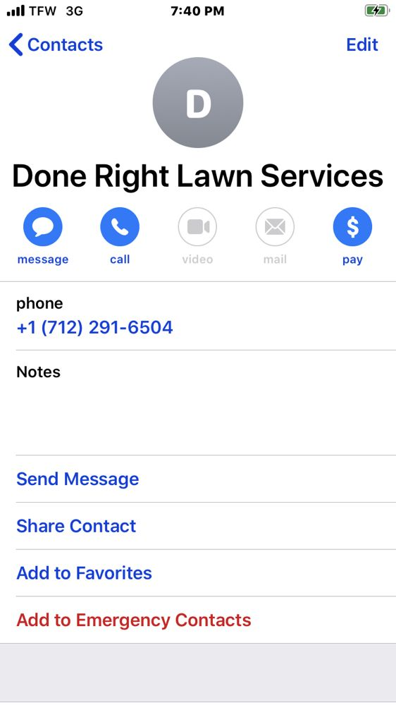 Done Right Lawn Services: Storm Lake, IA