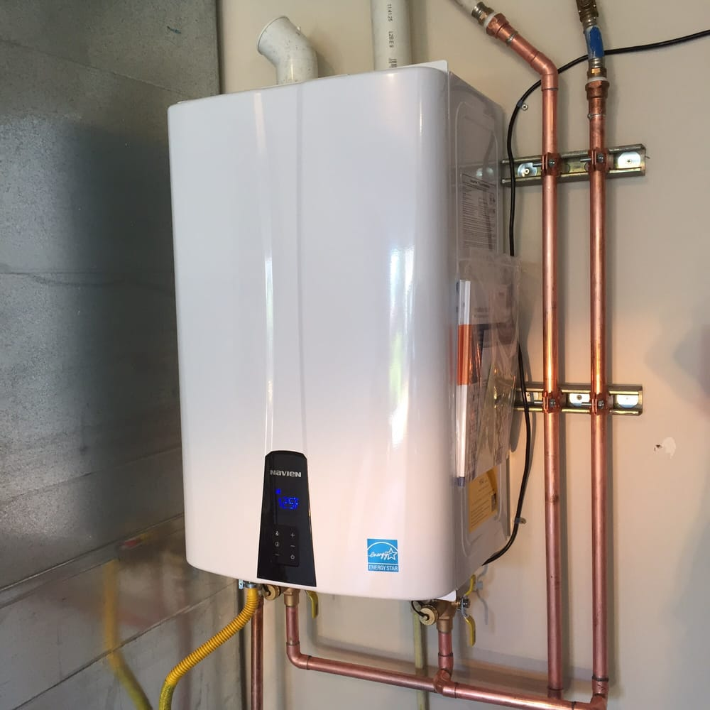 Navien Tankless Water Heater Installed By Brom Mick